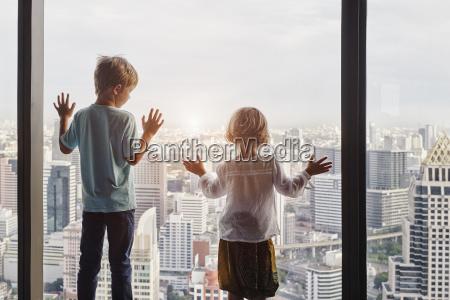 thailand bangkok boy and little girl