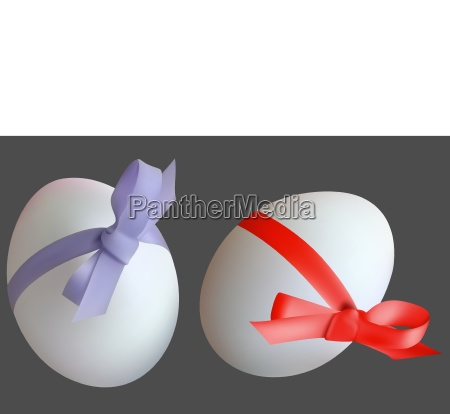 easter eggs with red and violet