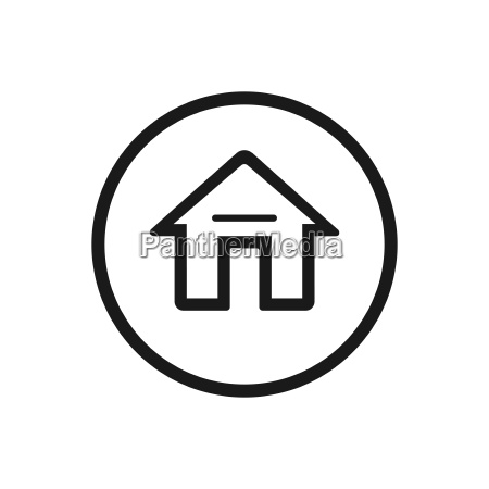 home icon on a white background