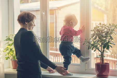 grandmother spending time together with grandchild