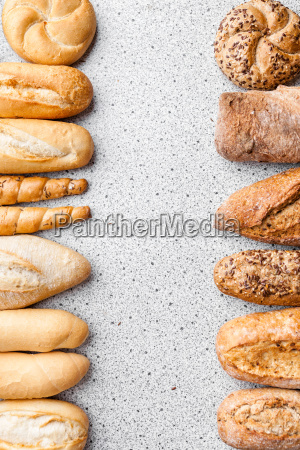 variety of delicious fresh bread and
