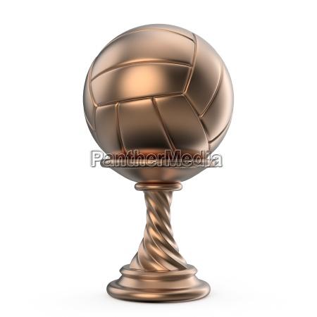 bronze trophaee tasse volleyball 3d