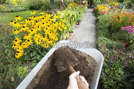 komposterde fuer das blumenbeet