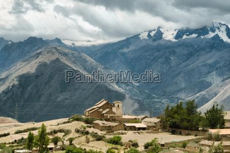 panoramic view of urubamba mountain range