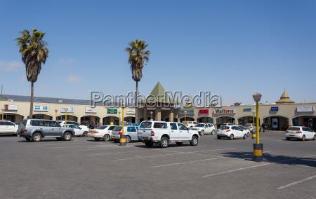 strasse in swakopmund stadt namibia
