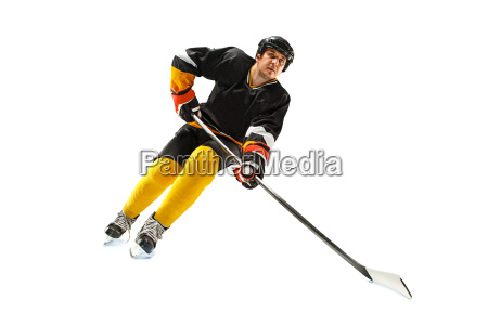 eishockeyspieler in der aktion getrennt auf