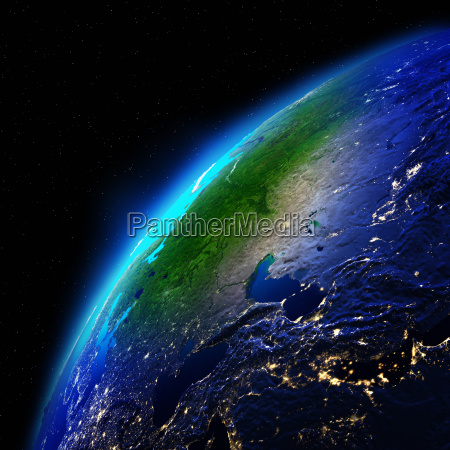 planet earth 3d rendering planet
