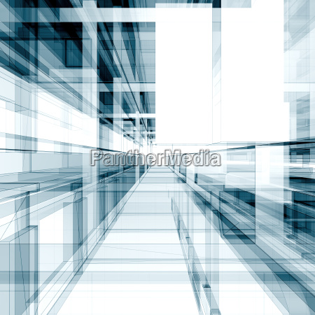 modern building 3d rendering