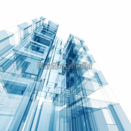 concept building 3d rendering