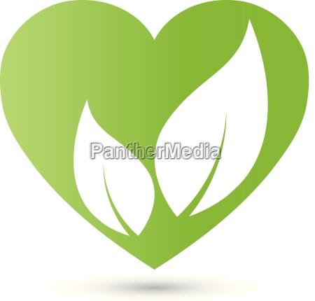herz und blaetter natur vegan logo