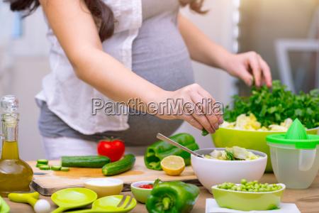 gesundes schwangerschaftskonzept