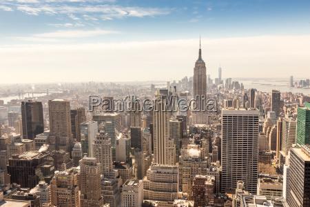 im stadtzentrum gelegene skyline new york