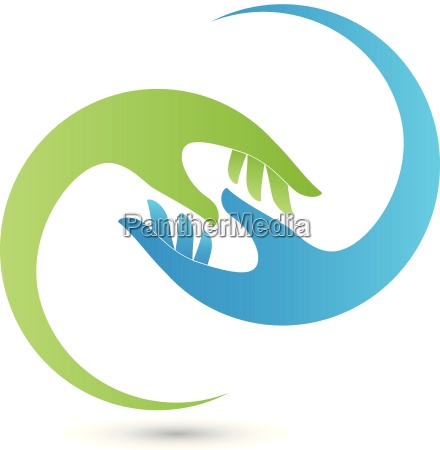 hands physiotherapy alternative practitioner helper logo