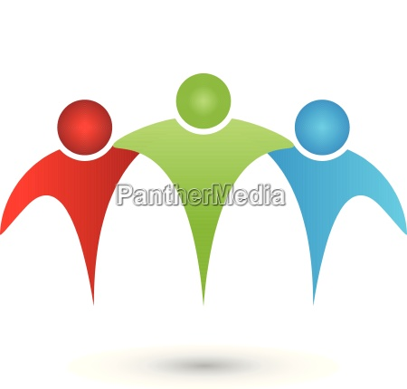 three peoplepartnerteamfriendspeoplelogo