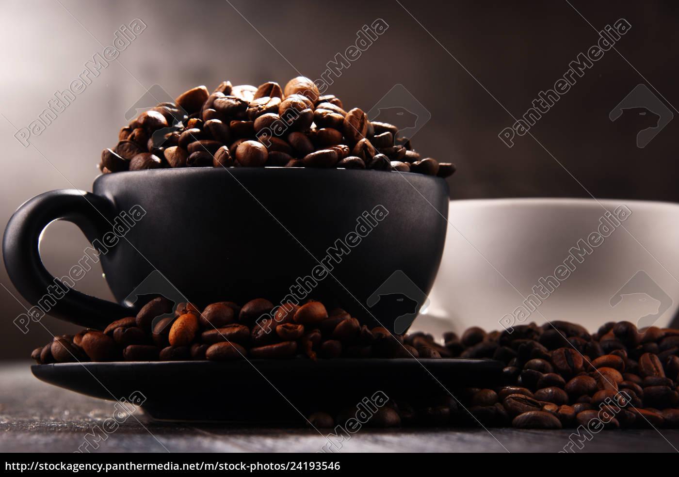 zusammensetzung, mit, zwei, tassen, kaffee, und - 24193546