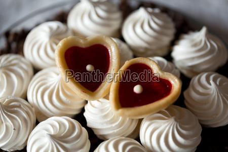 franzoesische vanille meringue kekse und zwei