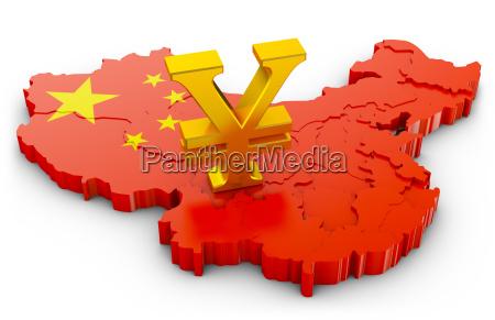 yuan on map