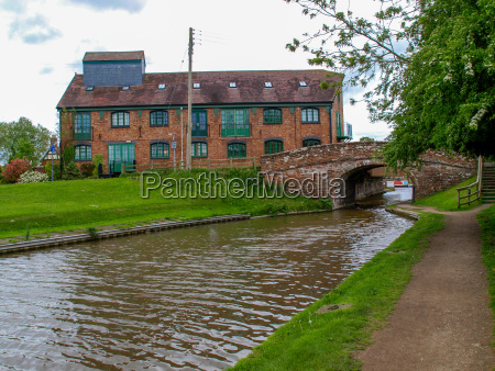 old bridge with towpath and an