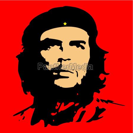 che guevara kuba revolution illustration held