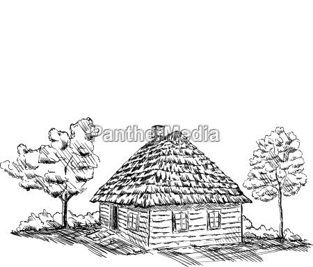 antikes holzhaus