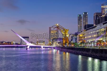 puerto madero mit der puente de