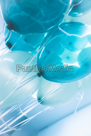 blaue luft ballons hintergrund