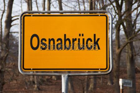 a city entrance sign osnabrueck