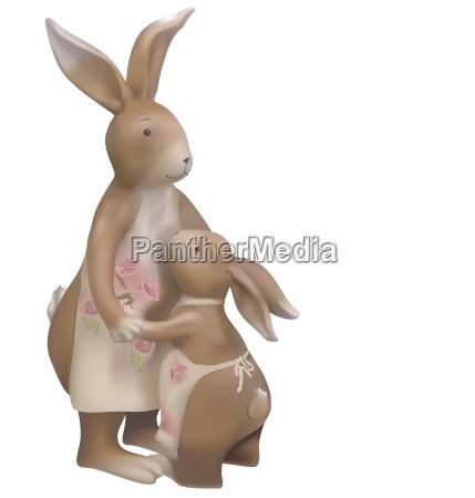 brown easter bunnies