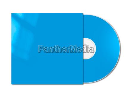 blaue cd dvd modellschablone getrennt
