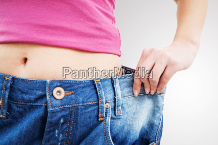 slim fit woman in jeans