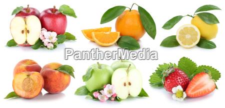 fruechte apfel orange AEpfel orangen erdbeere