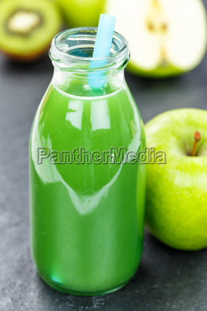 green smoothie juice apple green kiwi