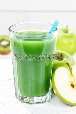 green smoothie juice apple green kiwi