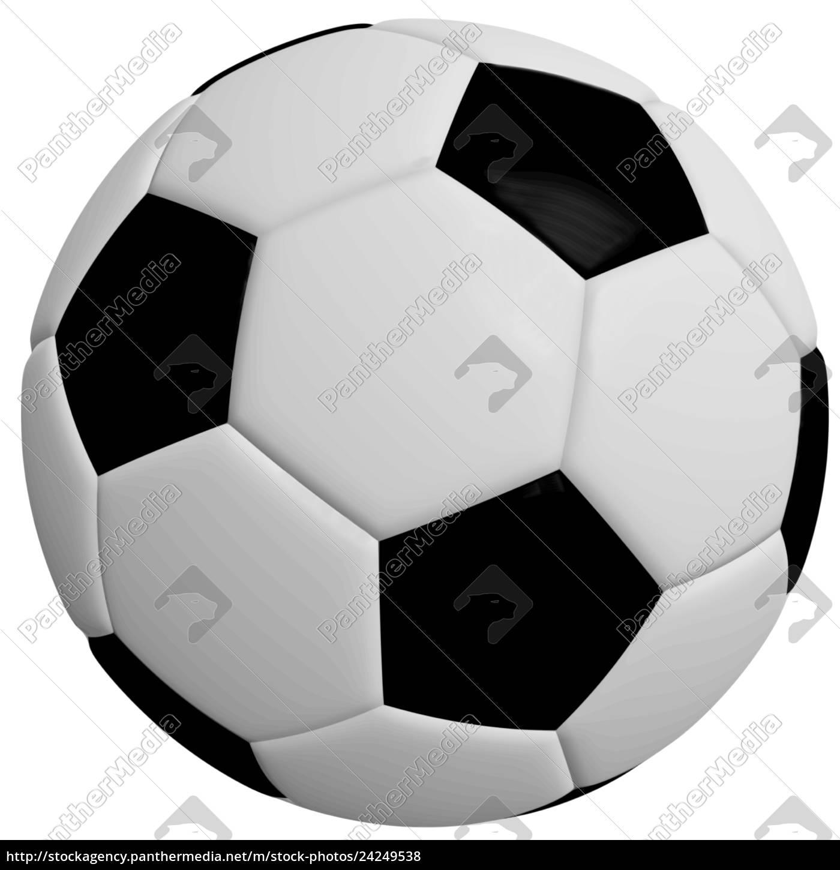 Stock Bild 24249538 Schwarzweisser Fussball Grafik Weisser Hintergrund