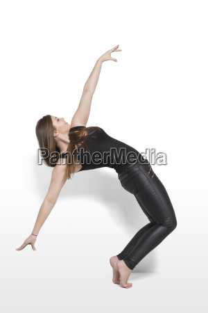 equilibrium exercise of a young woman