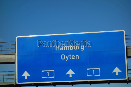 highway sign hamburg oyten a 1