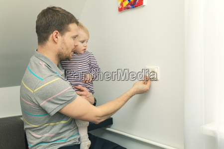 child safety at home father takes