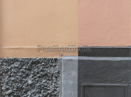 detail of a house wall beige