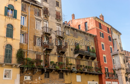 beautiful buildings in piazza erbe in