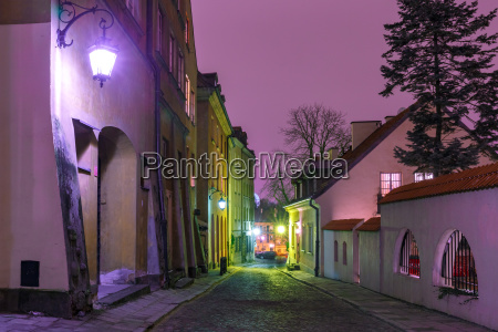 beautiful street in old town of
