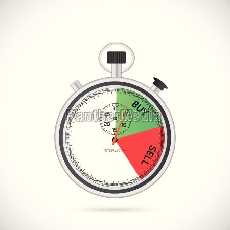 buy sell stopwatch illustration