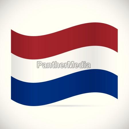 netherlands flag illustration