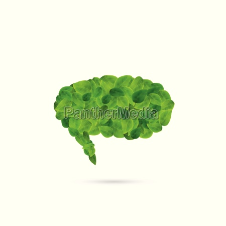 chat bubble leaves illustration