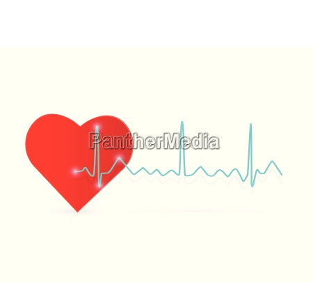 heart wave illustration