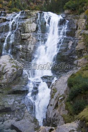 grawa waterfall in the stubaital tyrol