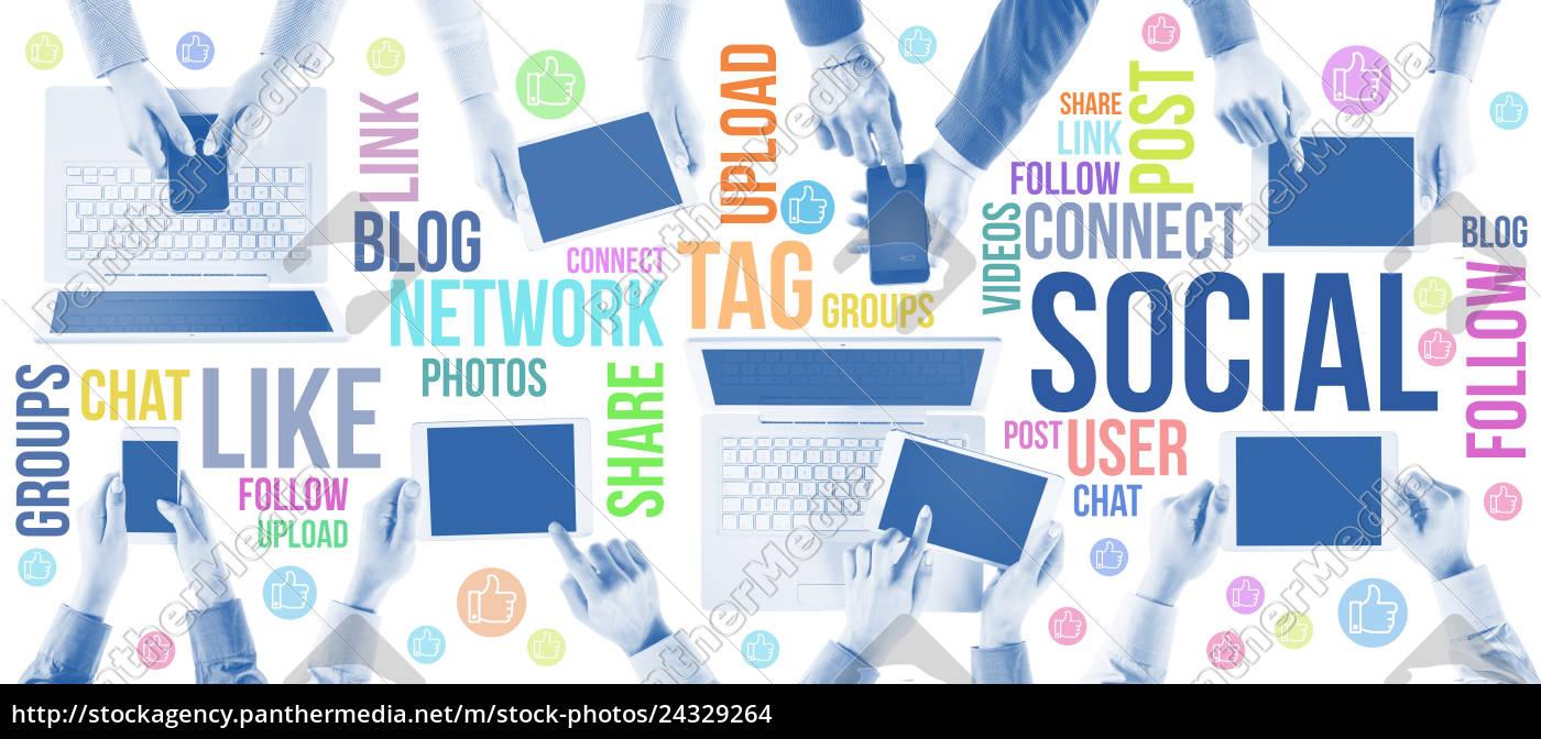soziale, netzwerkgemeinschaft - 24329264