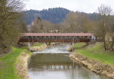 wooden bridge in gaildorf