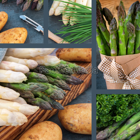 collage with healthy vegetables