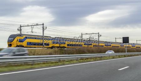 train near highway