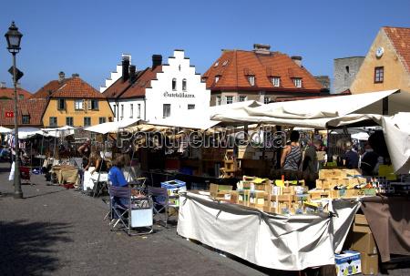 am marktplatz von visby gotland